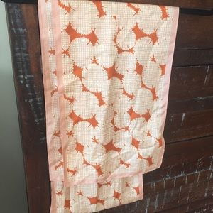 Fossil 100% Silk Retro Scarf Wrap
